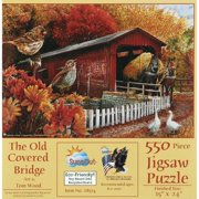 SunsOut The Old Covered Bridge Jigsaw Puzzle (550-Piece)