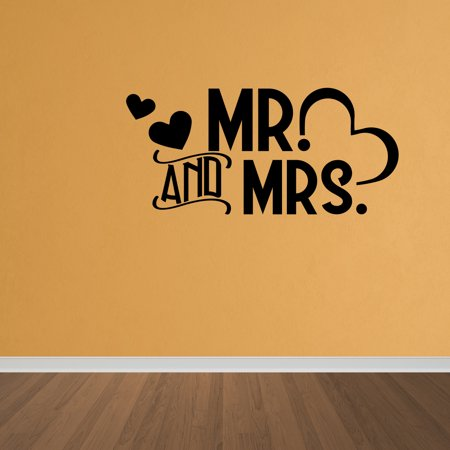 Wall Decal Quote Mr And Mrs Married Couple Vinyl Wall Art Decal Quote - Great Couples Quotes