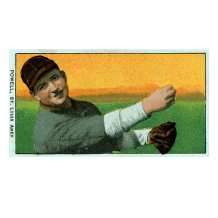 St. Louis, MO, St. Louis Browns, Jack Powell, Baseball Card Print Wall Art By Lantern Press