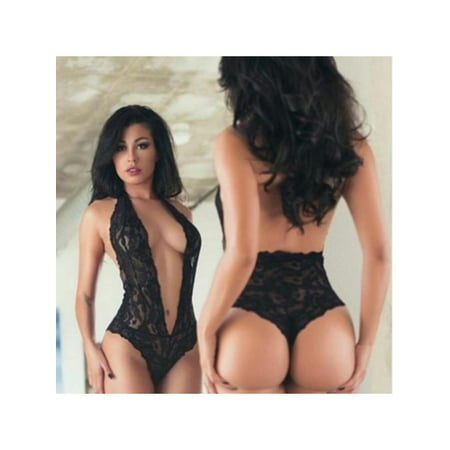 OUMY Women Plunge V See-through Lace Lingerie