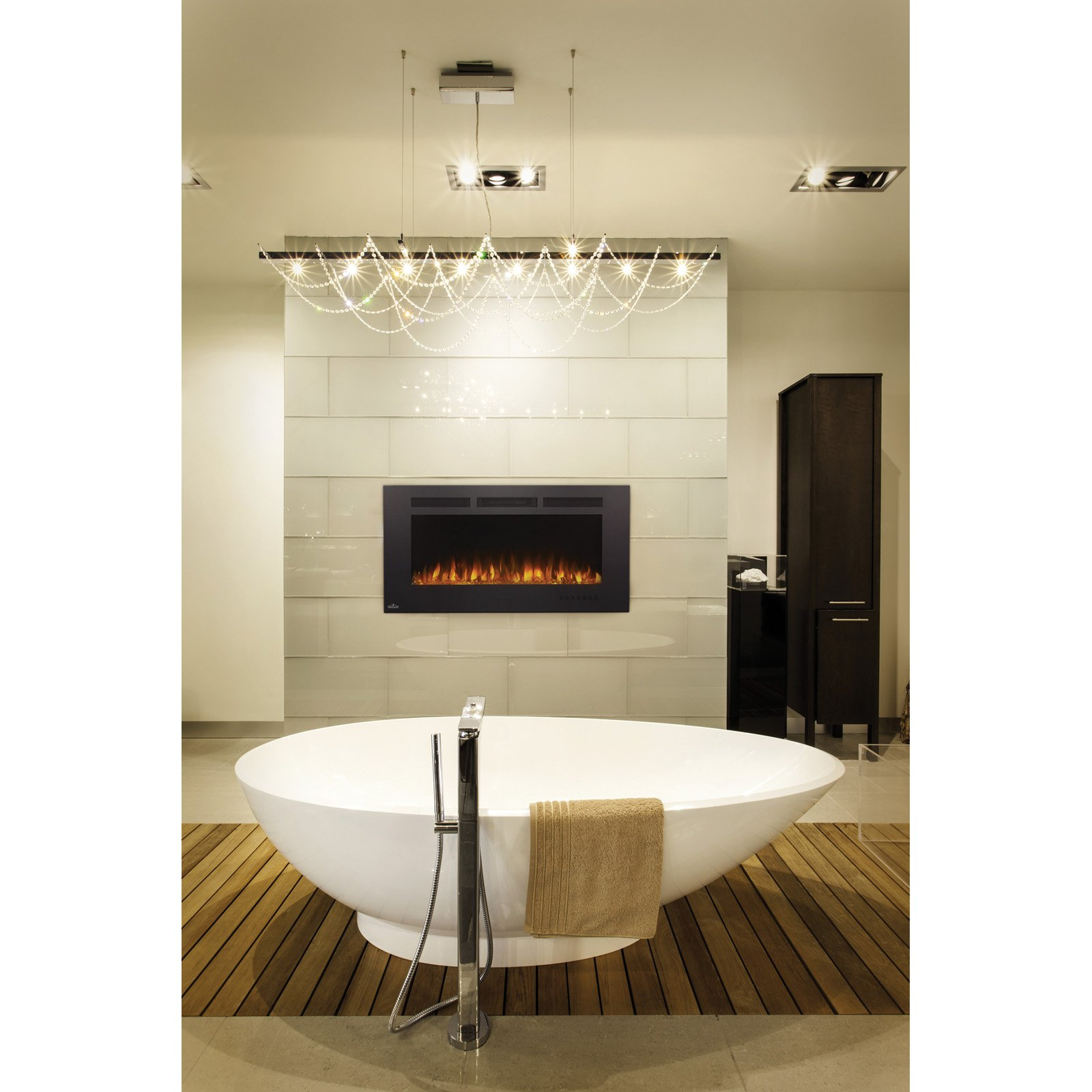 Napoleon Allure Phantom Linear Wall Mount Electric Fireplace with Mesh Screen