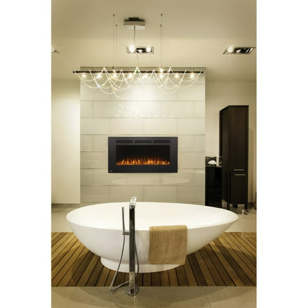 Napoleon Allure Phantom 42 in. Wall Mount Electric Fireplace with Mesh Screen, Black