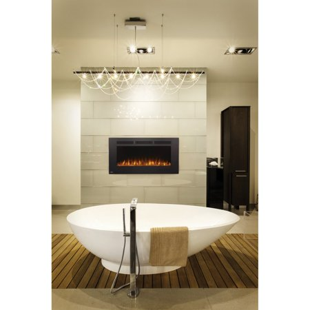 Napoleon Allure Phantom 50-inch Linear Wall Mount Electric Fireplace with Mesh Screen