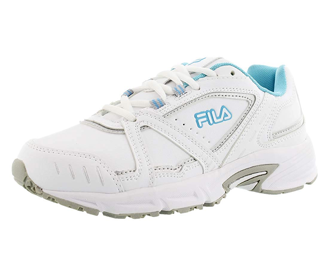 Fila Women's Training Shoes Leather Sneakers Talon 3 White Grey Blue 5SR20061 159 Size 8.5