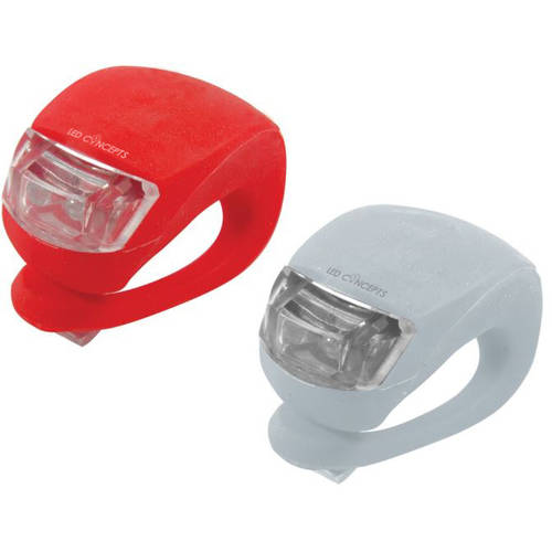 Silicone Bike Lights, Red/White