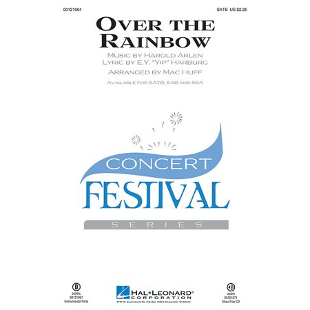 Hal Leonard Over the Rainbow (from The Wizard of Oz) SAB Arranged by Mac