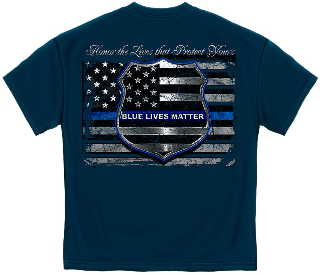 Boys Girls Kids /& Toddler Blue Live Matter Thin Blue Line Support Police Long Sleeve Tees 100/% Cotton