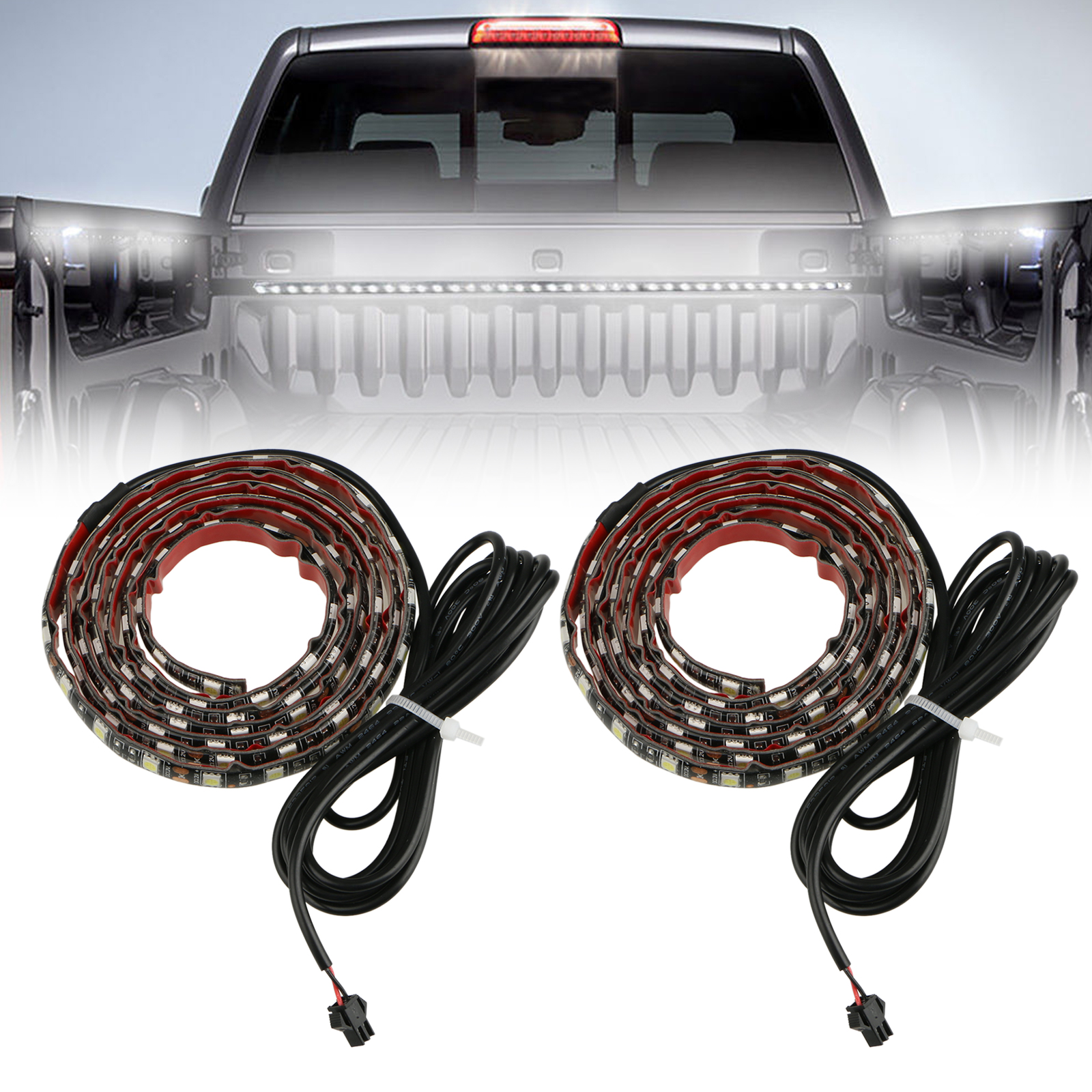 "2-pack Truck Bed LED Light Strips, 60"" 5050LED 90LEDs"