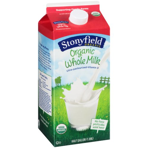 Stonyfield Organic Whole Milk, 0.5 gal