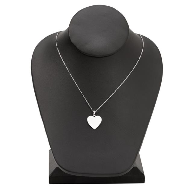 Creative Gifts 002472 0.75 in. Sterling Silver Heart Necklace with 18 in. Chain - image 1 de 1