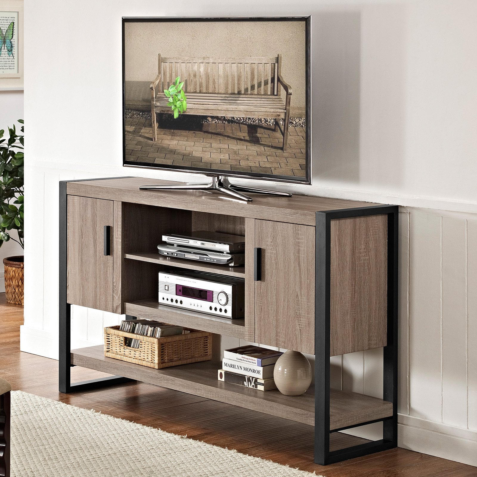 Walker edison urban blend tv console table walmart geotapseo Choice Image