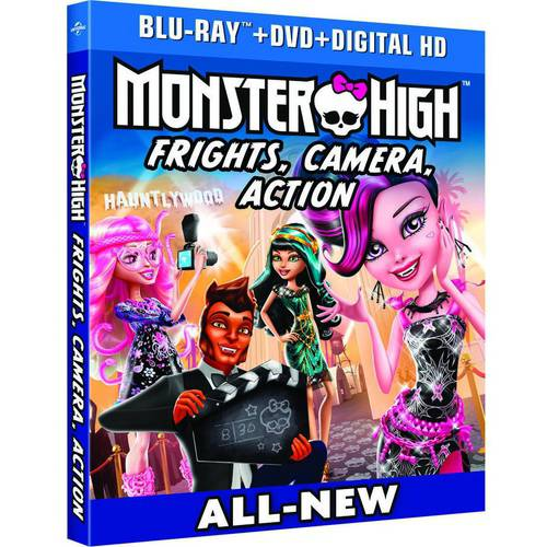 Monster High: Frights, Camera, Action! (Blu-ray + DVD + Digital HD) (With INSTAWATCH)