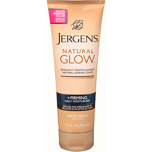 Jergens Natural Glow Firming Daily Moisturizer For Fair to Medium Skin Tones, 7.5 fl oz