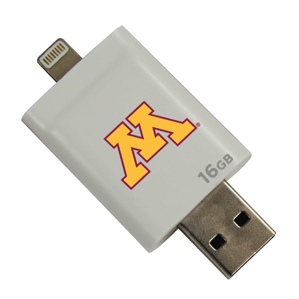 Minnesota Golden Gophers i-FlashDrive HD USB Drive 16GB - White