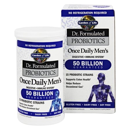 Garden Of Life Dr Formulated Probiotics Once Daily Men 39 S 50 Billion 30 Vegetarian Capsules
