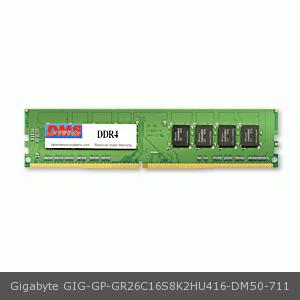 DMS Compatible/Replacement for Gigabyte GP-GR26C16S8K2HU416 GA-AB350M-Gaming 3 8GB DMS Certified Memory DDR4-2666 (PC4-21300) 1024x64 CL19  1.2v 288 Pin DIMM - (Gigabyte Ga Z170x Gaming 5 Vs Gaming 3)