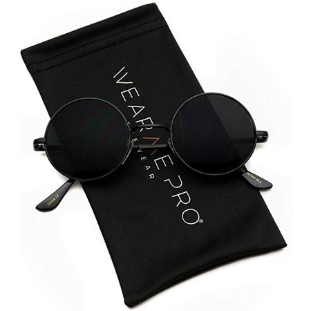 WearMe Pro - New Retro Vintage Lennon Inspired Round Metal Frame Small Circle Sunglasses