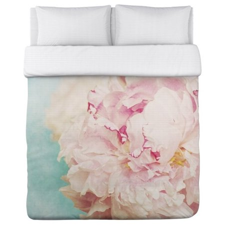 one bella casa king microfiber duvet in turquoise and pink - Nordstrom Bedding