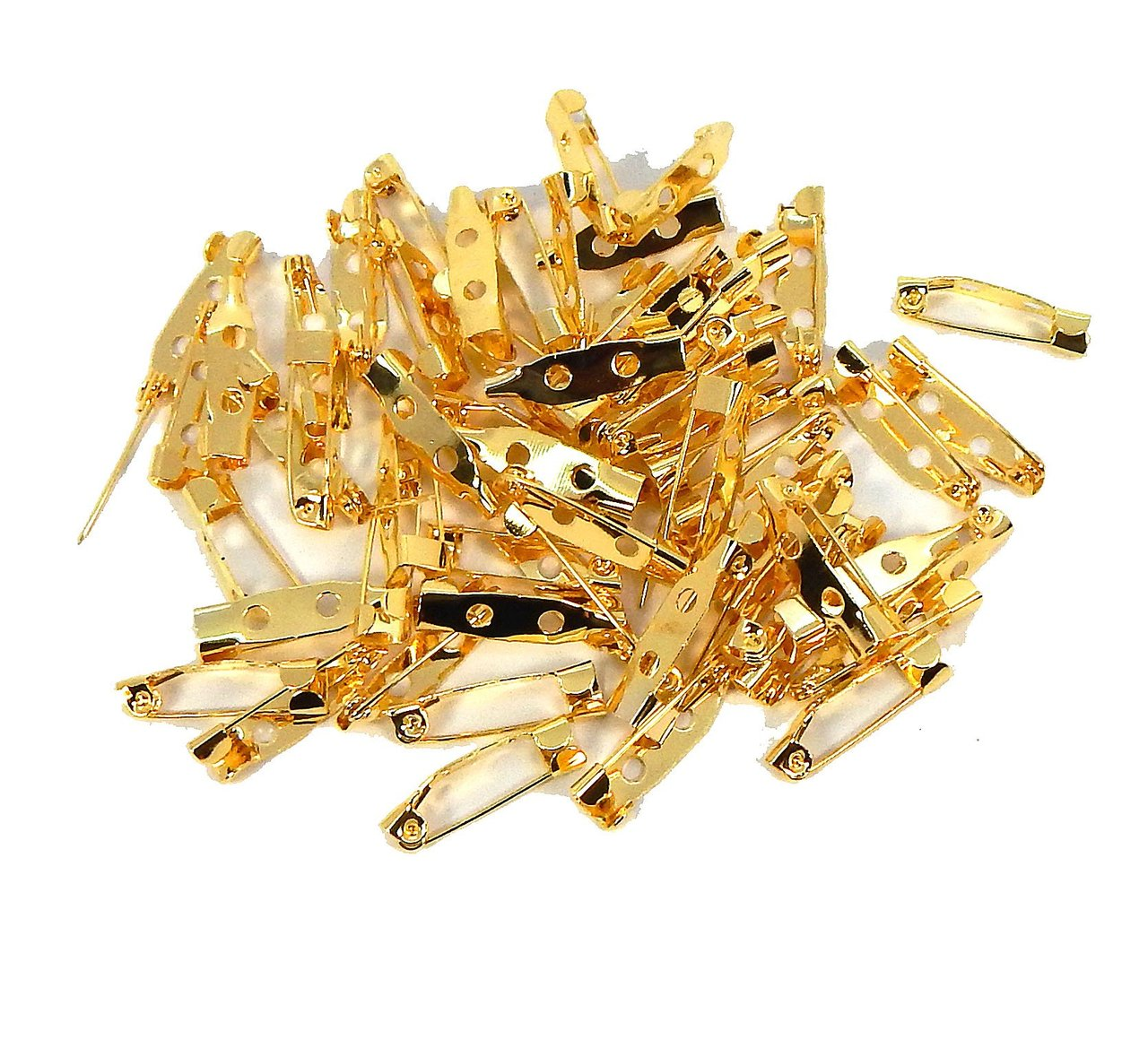 144 Bar 3/4 Inch 20mm Pin Backs Clasp Gold Plated Broach Name Badge Parts