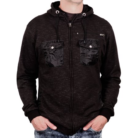 Fleece Hoodie with Nylon Chest Pockets from Alpha Beta