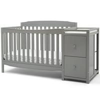 Delta Children Mason 6-in-1 Convertible Crib and Changer