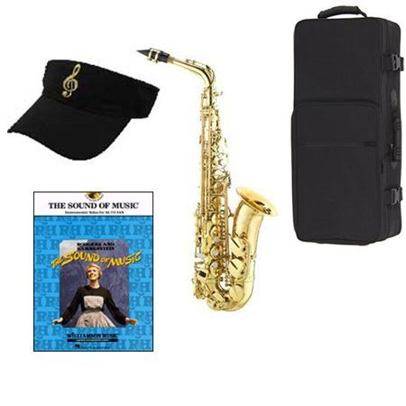 Sound of Music Saxophone Pack - Includes Alto Sax w/Case & Accessories, Sound of Music Play Along Book ()