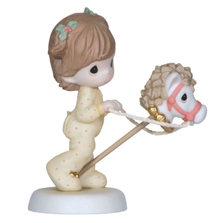 Precious Moments 121013 Jingle All The Way - Girl With Hobby Horse Figurine (Precious Moments Christmas Figurines)