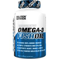 Evlution Nutrition Triple Strength Omega-3 Fish Oil Softgels, 1250 Mg, 120 Ct