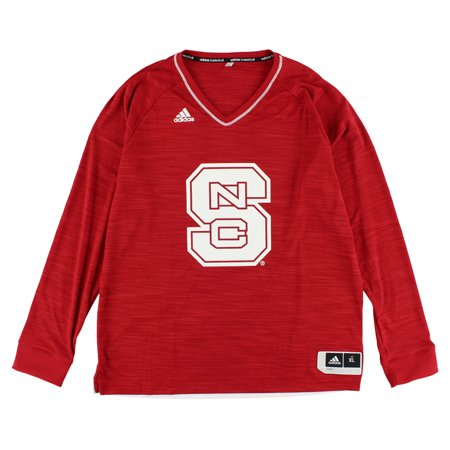Adidas Mens North Carolina State Wolfpack On Court Shooter Shirt Red