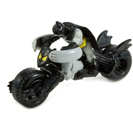 Imaginext DC Super Friends Batman Figure & Batcycle Vehicle