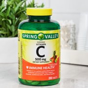 Spring Valley Vitamin C Chewable Tablets, Tropical Fruit Flavors, 500 mg, 200 Ct