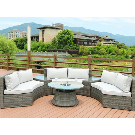 Direct Wicker Sidwell 6 Piece Rattan Sectional Set with Cushions ()