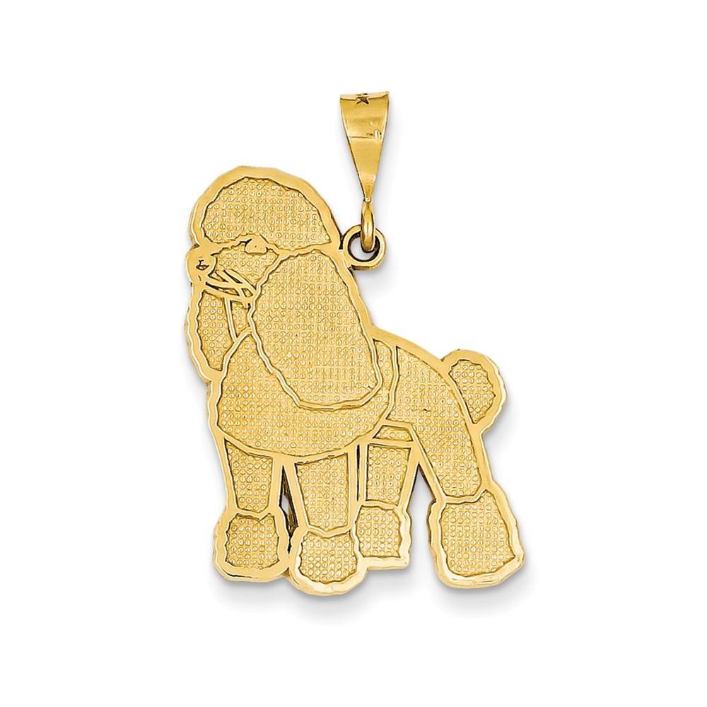 14k Yellow Gold Poodle Pendant