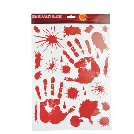 Bloodstained wall sticker Halloween horror glass wall stickers blood - Halloween Crafting