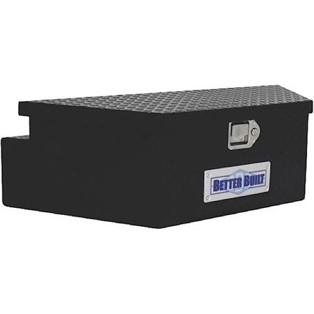 BETTER BUILT 66212321 UTILITY TRAILER TONGUE TOOL BOX, BLACK, WIDE, V SHAPED (Best Built Utility Trailers)