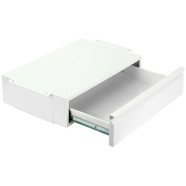 Vivo White Space Saving Pull Out Under, Under Desk Storage Drawer