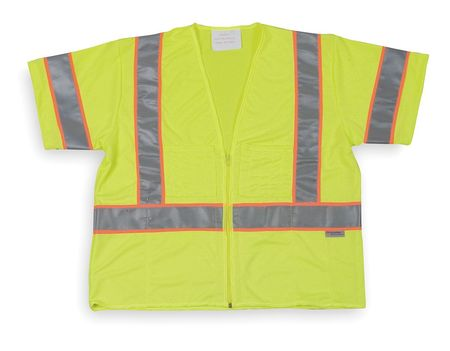 Condor 1YAV4 3XL Lime CoolDry(TM) Polyester High Visibility Vest by Condor