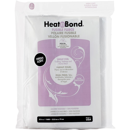 "HeatnBond Fusible Fleece, High Loft, 22"" x 1 yd"