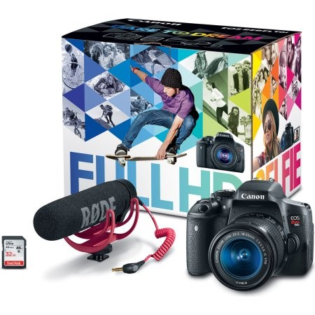 Canon EOS Rebel T6i EF-S 18-55mm IS STM Video Creator Kit by Canon