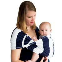 Baby K'tan PRINT Baby Carrier in Charcoal Stripe