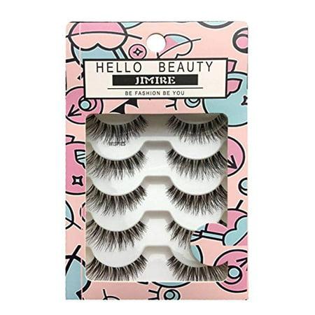e20dc6297d9 HELLO BEAUTY Multipack Demi Wispies Fake Eyelashes (5Pack) – BrickSeek