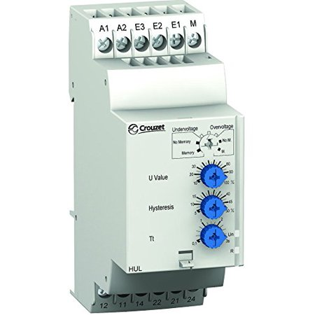 264v Switch - CROUZET CONTROL TECHNOLOGIES 84872120 VOLTAGE MONITORING RELAY, DPDT, 264V