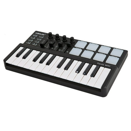 Worlde Panda mini Portable Mini 25-Key USB Keyboard and Drum Pad MIDI