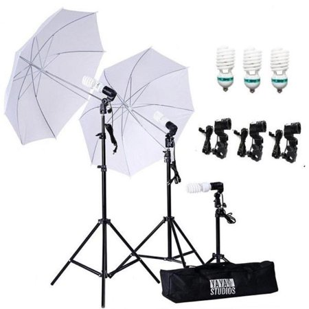 Efavormart 600 Watt Professional Photography Photo Video Portrait Studio Day Light White Umbrella Continuous Lighting Kit