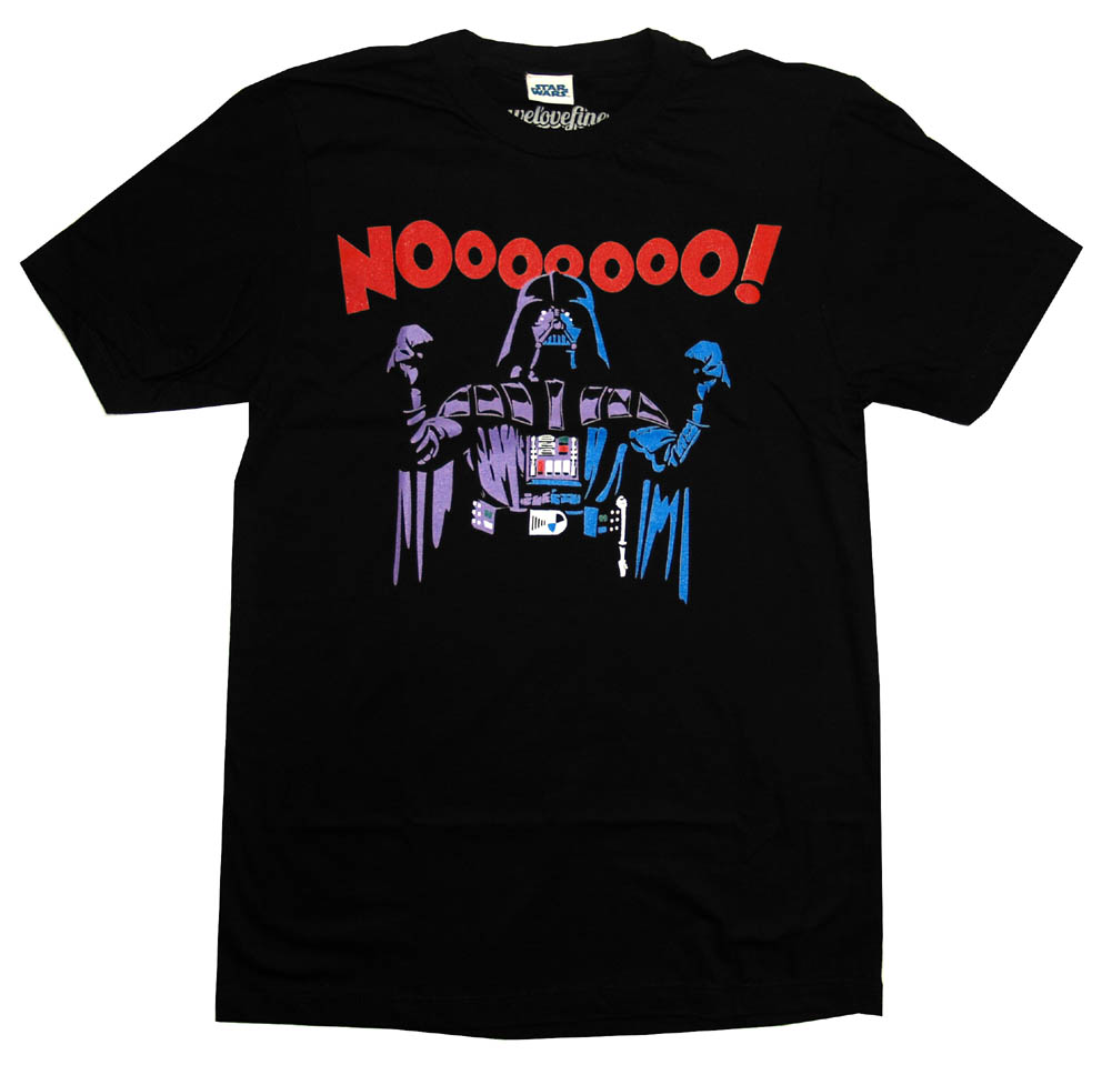 Star Wars Darth Vader Noooo Funny Mighty Fine Movie Adult T-Shirt Tee