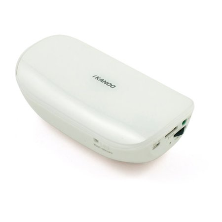 iKANOO BT014 Power Bank Bluetooth Speaker with Microphone, White