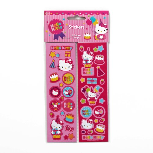 Hello Kitty Sticker Sheets, 8 Count, Party Supplies