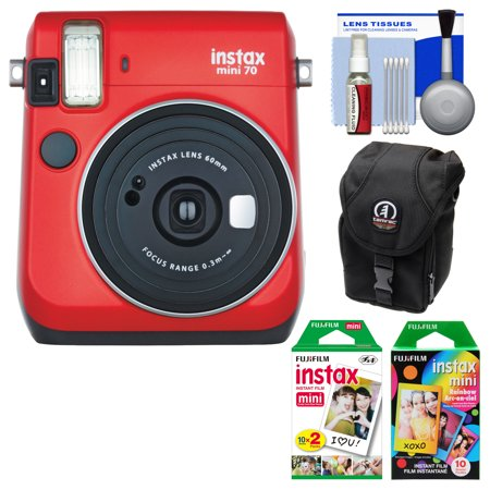 Fujifilm instax mini 70 instant film camera passion red for Housse instax mini 70