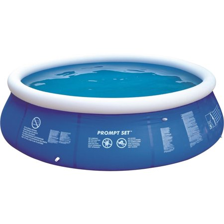 12 39 Blue And White Inflatable Above Ground Prompt Set Swimming Pool