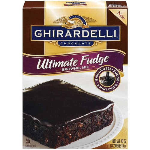 Ghirardelli Chocolate Brownie Mix, Ultimate Fudge, 18 Oz by Lindt & Sprungli